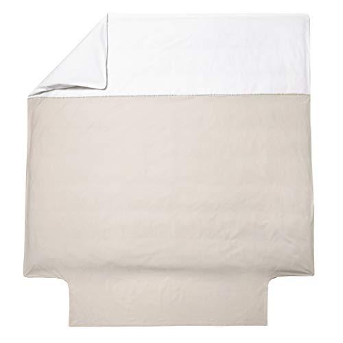 Blanc des Vosges Mystery Housse de Couette, Coton, Lin, 260 x 240 cm