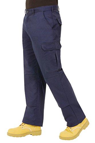 ProLuxe Endurance - Pantalones Tipo Cargo, de Combate, con Bolsillos para Rodillera y Costuras reforzadas. Disponibles en Negro, Azul Marino, Gris/Negro y Negro/Gris