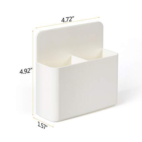 2 Pack Magnetic Dry Erase Marker Holder, Whiteboard Marker Holder, Mighty-magnetic Marker Pen Organizer for Whiteboards (White) Photo #3