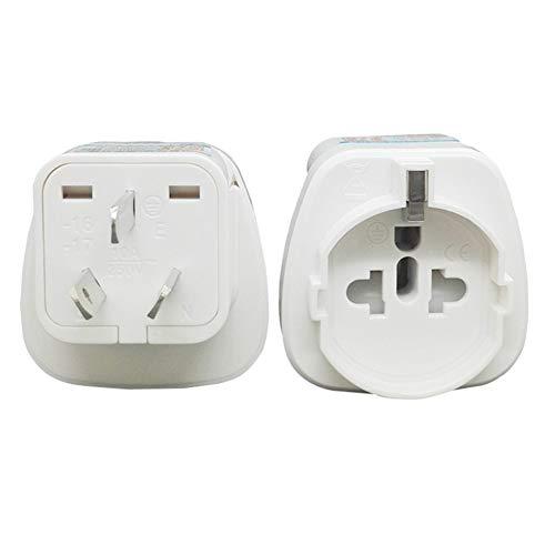 No logo Kppto AU CN 2500W de alimentación de CA del Enchufe eléctrico a la UE US Italia Universal Plug Internacional del Recorrido del Adaptador Adaptador convertidor Mundial