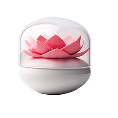 Maquillage Porte-coton-tige fixé Porte-coton-tige nouveauté séduisante décoration Porte-coton-tige avec couvercle dans la vanité de la salle de bain, salle à manger et salon-rose Récipient