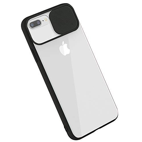 Rdyi6ba8 - Carcasa para iPhone 8 Plus, carcasa para iPhone 7 Plus, funda CamShield [protección de cámara] protectora, transparente, fina, ligera, antigolpes, para iPhone 7 Plus/8 Plus