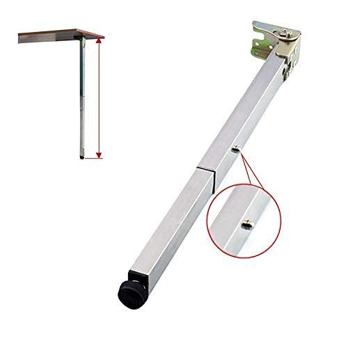 Edelstahl DIY Möbelfüße Tischbeine,Klapp Teleskop Bar Schreibtischbeine,Push-Pull Lift Esstische Schrankbeine,50-130cm,Verstellbare Schutzbasis,mit Schrauben (70cm/27.6in)