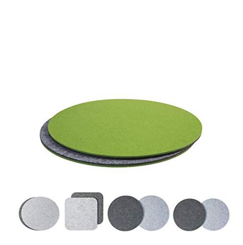 luxdag Platzset aus Filz für Teller und große Schüsseln, grau/grün (Farben & Größen wählbar)