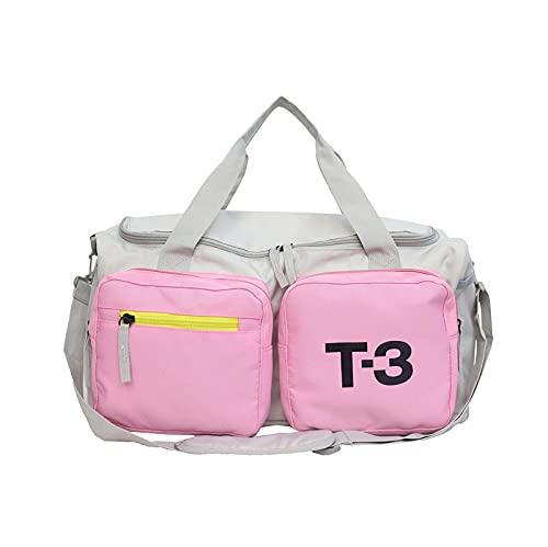 Borsa Sportiva, Borsoni Da Palestra Borsa da viaggio femminile Breve distanza Maschio Bagaglio per il bagaglio a mano BAG BAG BAG GRANDE Capacità Borsa Sport Borsa per il fitness ( Color : Pink )