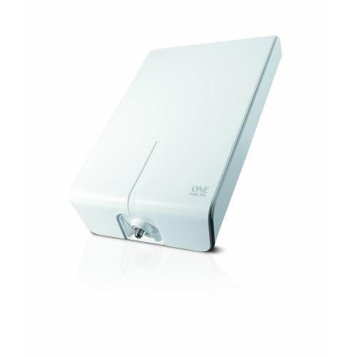 One For All SV9455 - Antenna per Tv Esterna, Full HD - Pronta per il Dtt nel Raggio di 50km - Antenna Tv Digitale Hd - Resistente All'acqua - Bianca