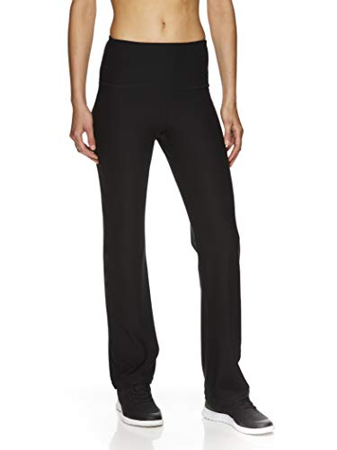 Reebok Womens Highrise Running Compression Athletic Pants, Black, Medium