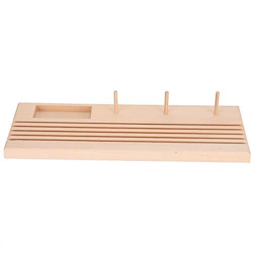 Soporte de regla de acolchado de madera de haya, soporte de organizador de almacenamiento de carretes, herramienta de costura DIY, grande para bobina de regla de retazos
