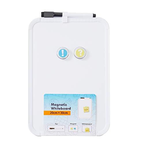 DumanAsen Magnetisches Whiteboard, trocken abwischbar Magnettafel – inkl. Marker, 20cm x 30cm