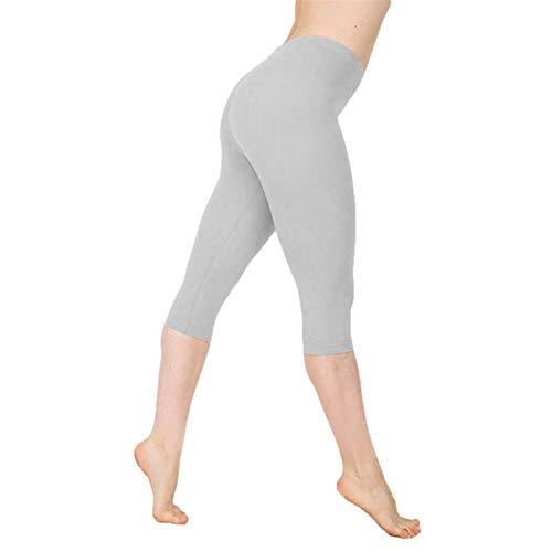 WANGJINQIAO Leggings sin Fisuras de Cintura Altas y Bajas Mujeres Deportes de Deportes de Mujer Leggings de Fitness Gym Girls Leggings Leggins Mujer (Color : Gray, Size : S)