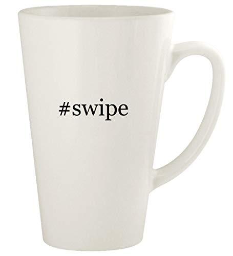 #swipe - 17oz Hashtag Ceramic Latte Coffee Mug Cup, White
