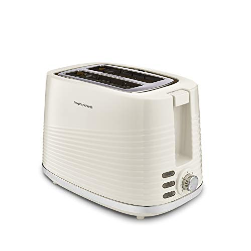 Morphy Richards 220027 Dune 2 Slice Toaster Defrost and Re-Heat Settings, Plastic, 850 W, Cream