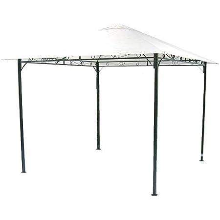 Gazebo Giardino Bar Campeggio in metallo 3x3 mt telo bianco impermeabile fiera