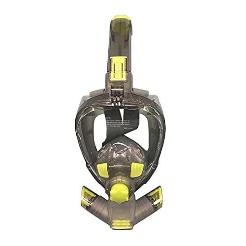 CHSDN Máscara de natación/submarina, Snorkel, Cara Completa, Vista Amplia, Plegable, antiniebla, máscara de Buceo para Nadar, Adultos, jóvenes, Snorkel