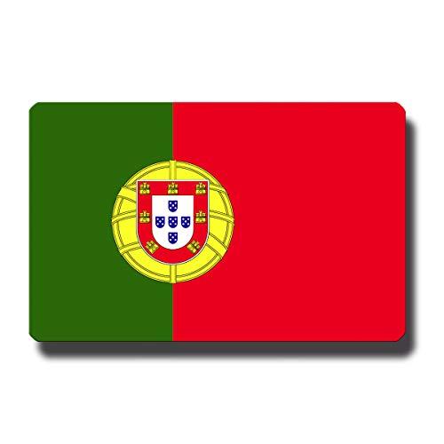 Kühlschrankmagnet Flagge Portugal - 85x55 mm - Metall Magnet mit Motiv Länderflagge für Kühlschrank Reise Souvenir