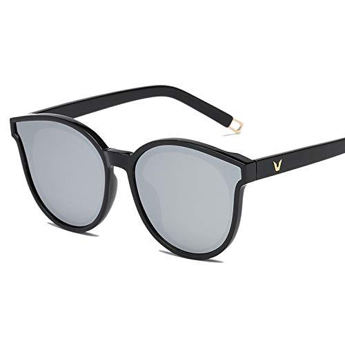 Gosunfly Gafas de sol polarizadas versión coreana femenina del mar azul con las mismas gafas de sol Gafas de sol-Marco negro-Mercurio blanco