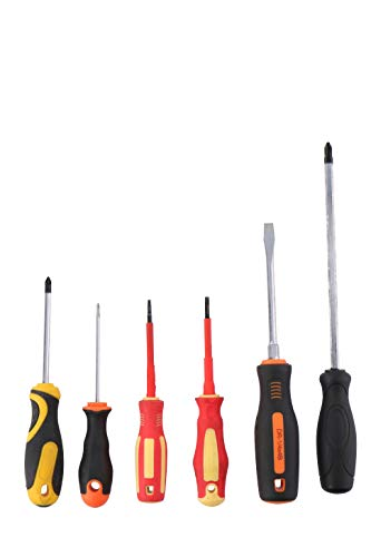 Juego de 6 destornilladores multipropósito surtidos Phillips Phillips Phillips Torx | Kit de herramientas de bricolaje | Manijas de agarre fácil y suave