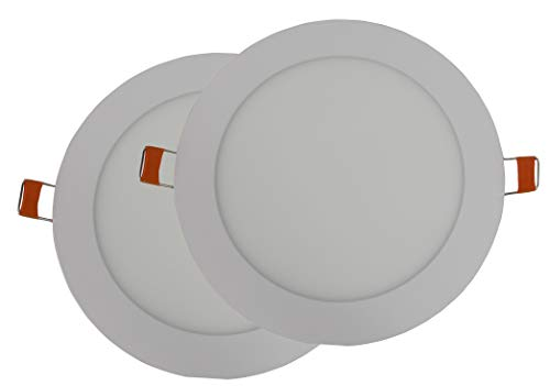 Hothome® RPA6RWW, Pack de 2 unidades Foco Empotrable Led 6W, 120mm 540LM, Blanco caliente 3000K, LED Downlight