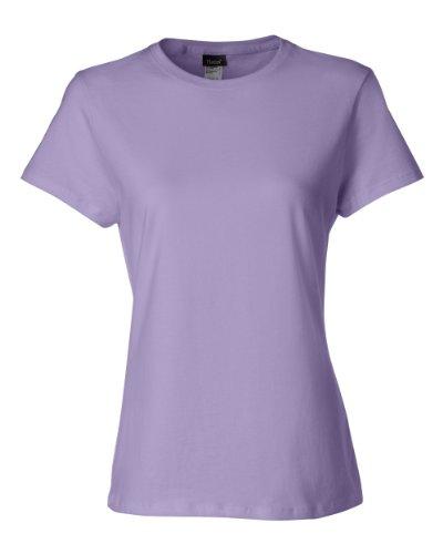 Hanes Classic-Fit Jersey Women's T-Shirt 4.5 oz, L-Lavender