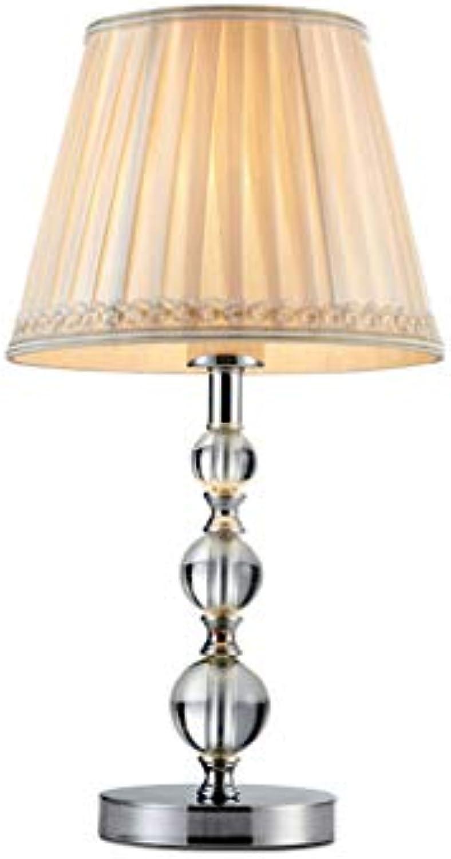 HN Lighting Tischlampe, Einfache Europische Hotel Nachttischlampe Moderne Home Fashion Einfache Stoff Studie Wohnzimmer Retro Kristall Tischlampe, Tischlampe