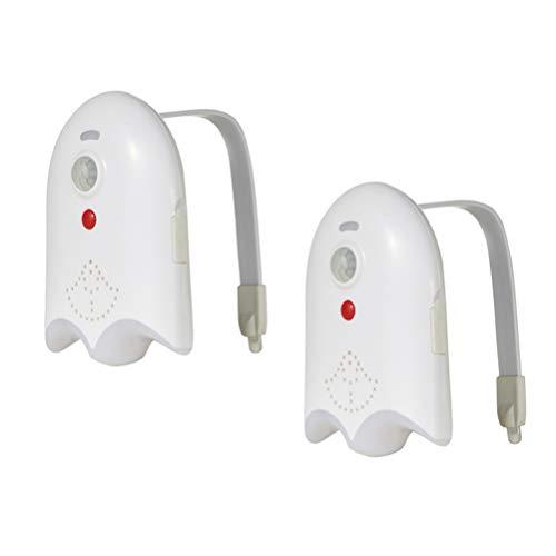 OSALADI 2Pcs Sensor de Movimiento Luz de La Noche Del Inodoro Luz de La Taza Del Inodoro Luces de Noche Led Cambiantes de 16 Colores para La Decoración Del Baño Del Baño de Navidad