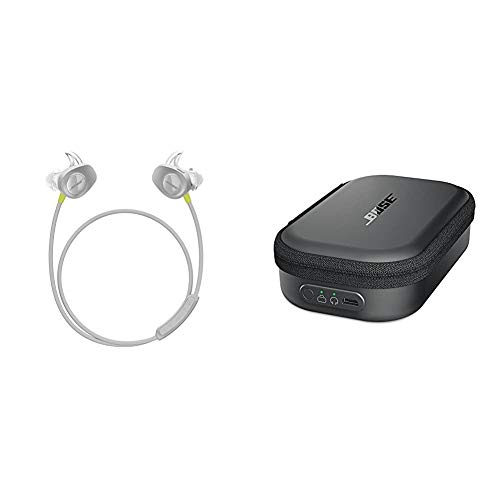 Bose SoundSport Wireless Headphones, Citron + Charging Case