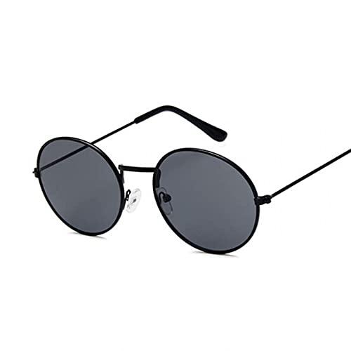 DAIDAICDK Gafas de Sol Redondas Coloridas para Mujer Hombre Ojo de Gato gradiente Viajes al Aire Libre Gafas Accesorios para Coche