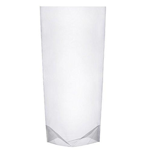 100 Piezas 5.7 por 10 Pulgadas Bolsas de Celofán Transparentes Bolsas OPP Bolsas de Plástico con Bloqueo de Botón Bolsas de Caramelos para Galletas, Panadería, Dulces, Regalos