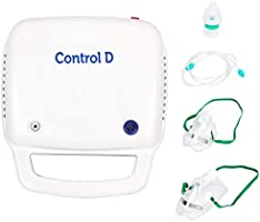Control D Blue & White Compressor Complete Kit Nebulizer with Child and Adult Masks