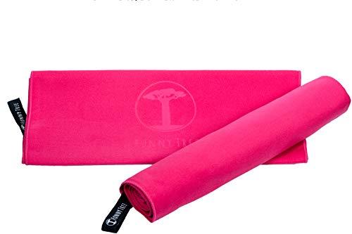 Funny Tree® Microfaser Handtücher (pink) 40x80cm | schnelltrocknend platzsparend Ultraleicht| Reisehandtuch Sporthandtuch Yoga Fitness Strand