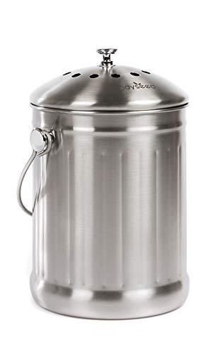 Odyseed Bac à Compost | Composteur de Cuisine en Acier Inoxydable de Grande Capacité et Anticorrosion | Sans...