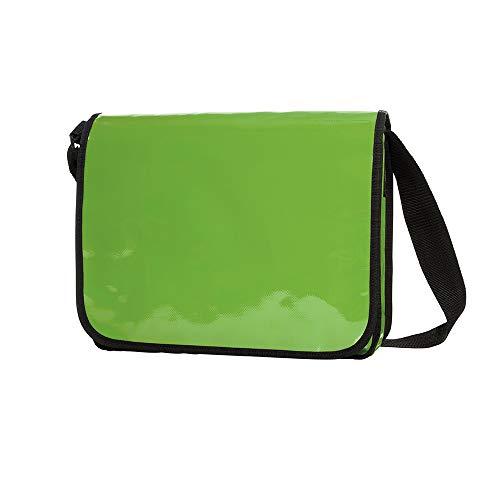 Messenger Bag aus LKW Plane Planentasche Kuriertasche mit Überwurf und optionalem Laptop Inlay Notebook Inlet in vielen Farben von notrash2003 (Maigrün)