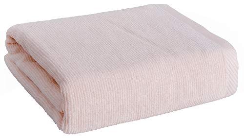 Sanli Toallas de baño de Fibra de bambú Liso Antibacteriano Anti ácaros 2 Veces la absorción de Agua Buena transpirabilidad Secado rápido Sin Grasa Sin Duro Sin Olor Sin desvanecimiento Rosa 70x140