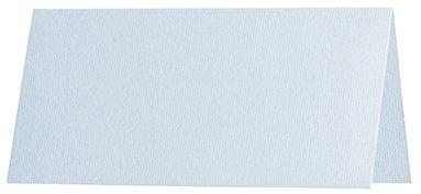 Visitekaartje in aqua, dubbel/gevouwen - staand formaat - Formaat: ~A7 - Inhoud van de set: 100 stuks