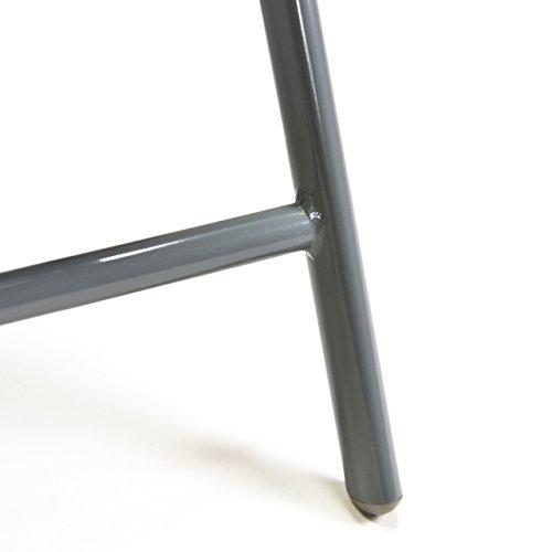 2er Set Klappstuhl Aluminium Komfortbreite Gartenstuhl Gartenstühle Klappstühle Alu schwarz - 6