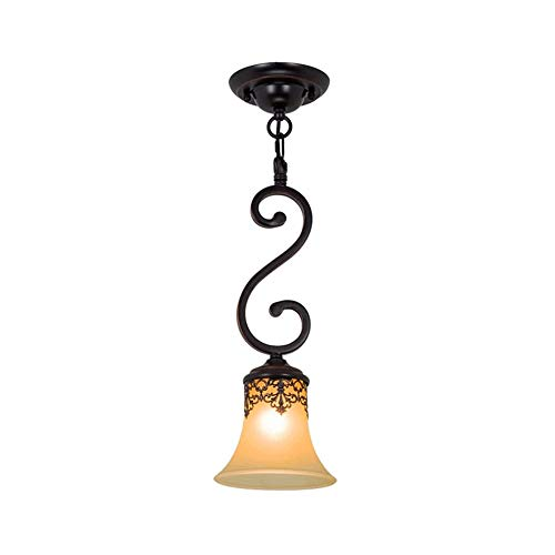 Vintage Iron Kroonluchter, Europese Glazen Plafond Lamp, Geschikt for de slaapkamer, woonkamer, Kledingwinkel, Barber Shop, Showroom, Bar, Retro Classic Country Style