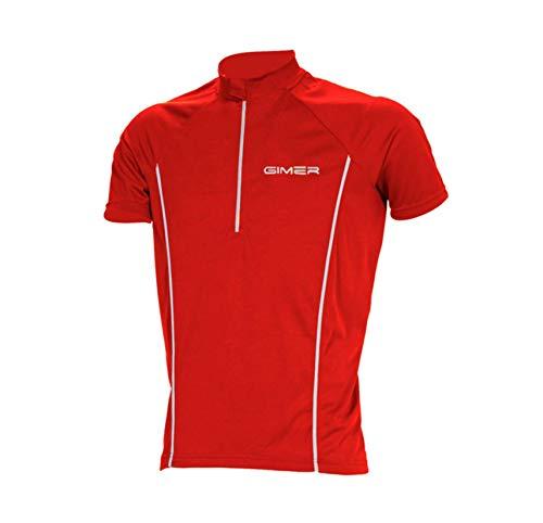 Palema Maillot de vélo à manches courtes avec reflets, rouge, L