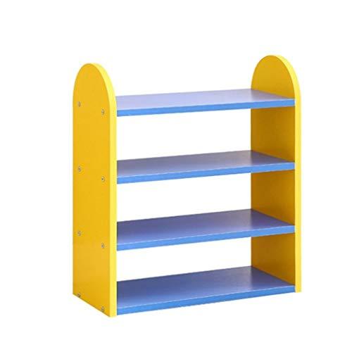 Shoe rack Fuerte Zapatero Simple y económico. Zapatero pequeño de plástico for niños. Almacenamiento en casa (Color : Yellow)