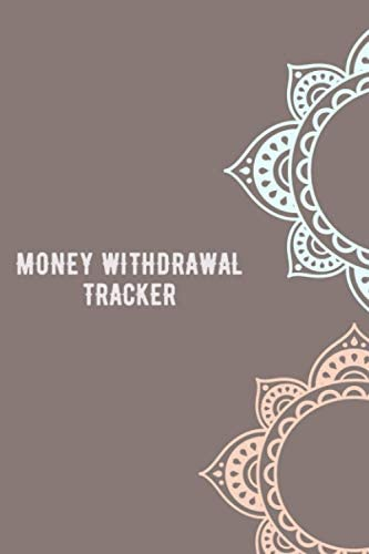 money withdrawal tracker Simple Monthly Bill Payments Checklist Organizer Planner Log Book Money product image