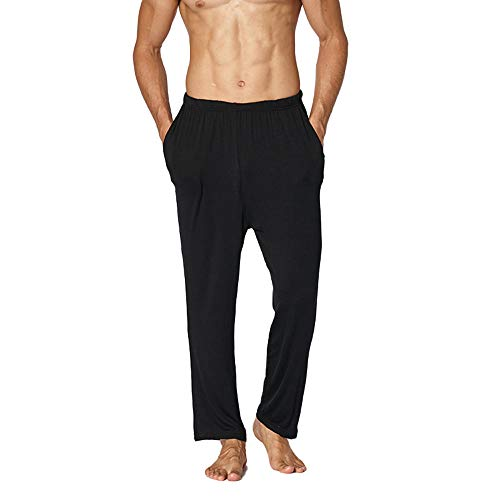 Herren Pyjama Die Hosen Schlafanzughosen Relax Hose Lang Schlafanzughose Loose...