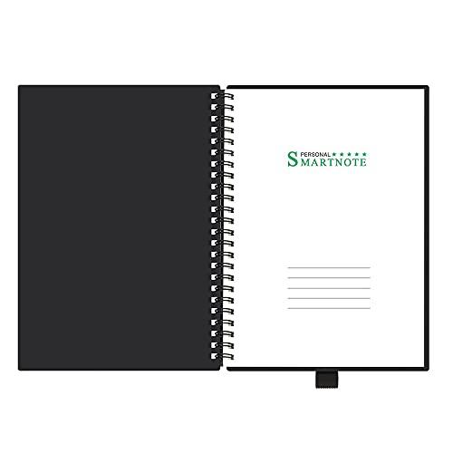Cuaderno Smart Reutable Borrable Spiral A5 / B5 Cuaderno Diario Diario Oficina Escuela Escuela Viajeros Dibujo Regalo Negro Con 15s Borreable Gel Pen (Color : Black, Size : 145x215mm)