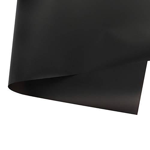 LAAT Papel de Regalo transparente y Impermeable para Embalaje de Flores Decoraciones de Bricolaje, 20 Hojas size 60 * 60 cm (Negro)