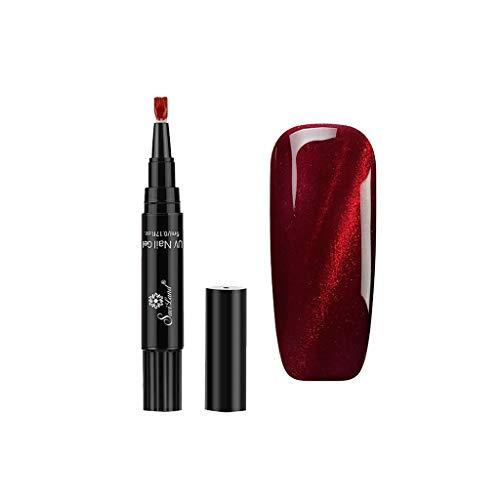 One Step Gel-Nagellack-Stift, Lenfesh Semipermanente Gel-Nagellack, UV LED-Nagellack,1 Stück 3 in 1 Nagel Nagelstift 1-Schritt-Nagel für UV-Temperaturwechselgel