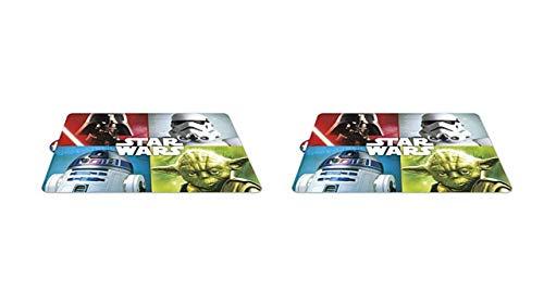 ALMACENESADAN 2465; Pack 2 manteles Individuales Star Wars 4 Personajes; Dimensiones 43x29 cm; Producto de plástico; No BPA