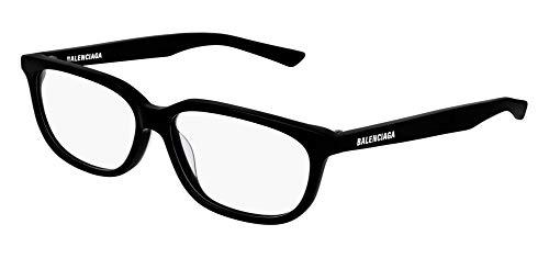 Balenciaga BB0032O - Occhiali da vista 001, 55 mm, colore: Nero