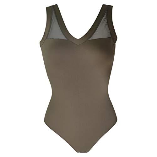 Intermezzo 31416 Body de ballet para mujer, color caqui (040) - Talla: M