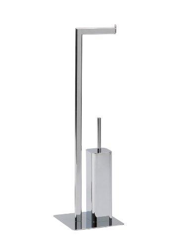 Andrea BA09229 - Porta Rotolo di Carta igienica e spazzolone WC, cromati