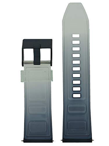 Diesel Correa de reloj intercambiable LB-DZ4487 de silicona, 26 mm, color azul