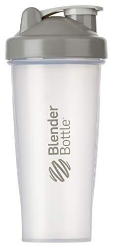 BlenderBottle Classic Shaker | Shaker Protéine | Bouteille d'eau |Blenderball | 820ml - Pebble / tranparent