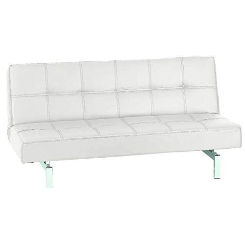 KITKAY sofá Cama Manhattan Clic-clac Polipiel Blanco